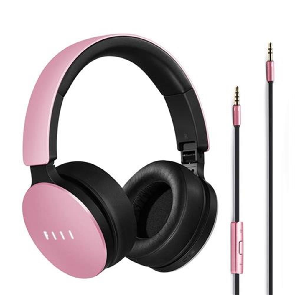 on-ear-over-ear-headphones-FIIL Wired Headphones Active Noise Canceling with Mic - Pink-FIIL Wired Headphones Active Noise Canceling with Mic Pink