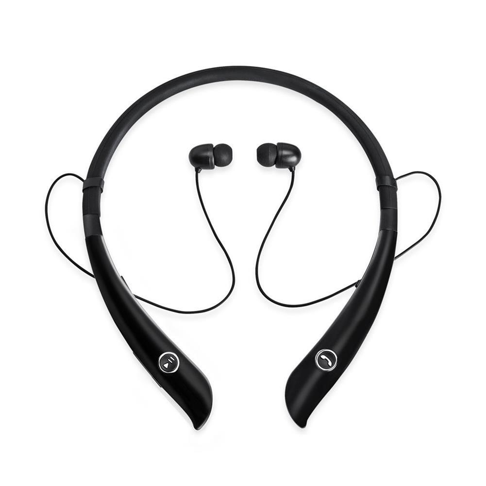 earbud-headphones-HV-930 Sports Neckband Bluetooth Earphone Dual Stereo Handsfree Phone Call with Mic - Black-HV 930 Sports Neckband Bluetooth Earphone Dual Stereo Handsfree Phone Call with Mic Black