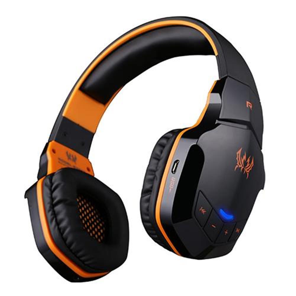 on-ear-over-ear-headphones KOTION EACH B3505 NFC Wireless Bluetooth 4.1 Stereo Gaming Headphone Headset With MIC - Black+Orange KOTION EACH B3505 NFC Wireless Bluetooth 4 1 Stereo Gaming Headphone Headset With MIC Black Orange