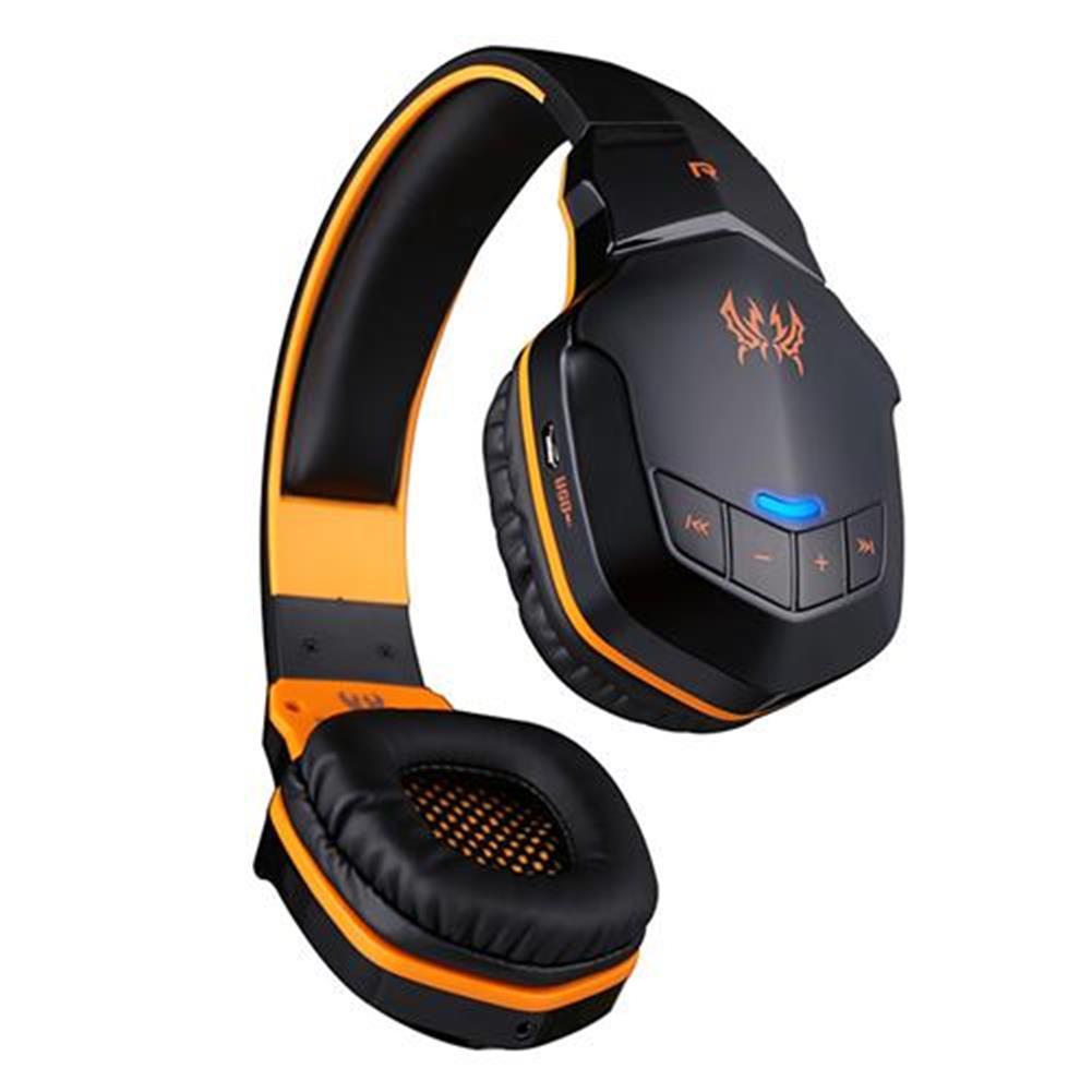on-ear-over-ear-headphones KOTION EACH B3505 NFC Wireless Bluetooth 4.1 Stereo Gaming Headphone Headset With MIC - Black+Orange KOTION EACH B3505 NFC Wireless Bluetooth 4 1 Stereo Gaming Headphone Headset With MIC Black Orange 1