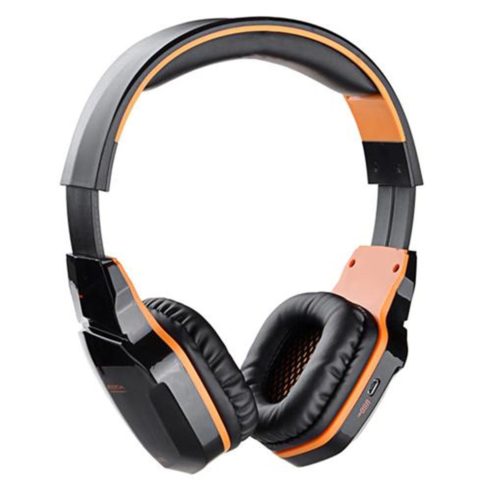 on-ear-over-ear-headphones KOTION EACH B3505 NFC Wireless Bluetooth 4.1 Stereo Gaming Headphone Headset With MIC - Black+Orange KOTION EACH B3505 NFC Wireless Bluetooth 4 1 Stereo Gaming Headphone Headset With MIC Black Orange 2