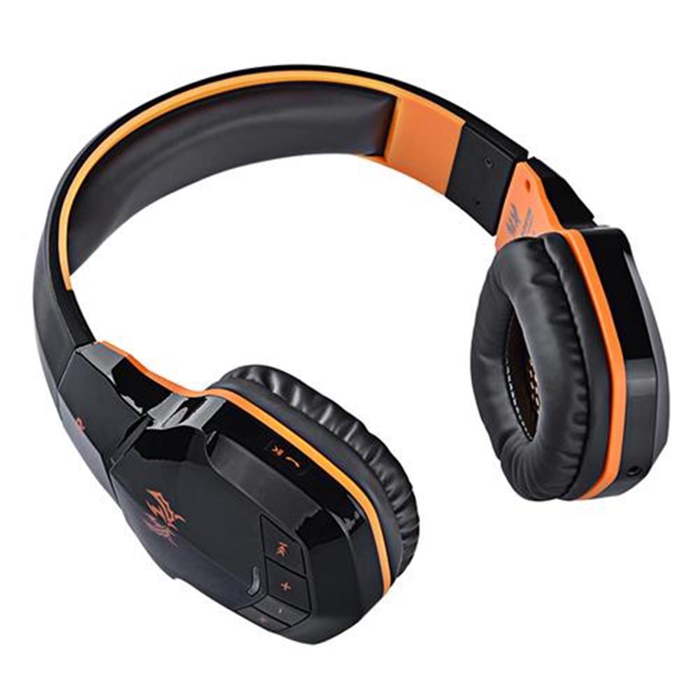on-ear-over-ear-headphones KOTION EACH B3505 NFC Wireless Bluetooth 4.1 Stereo Gaming Headphone Headset With MIC - Black+Orange KOTION EACH B3505 NFC Wireless Bluetooth 4 1 Stereo Gaming Headphone Headset With MIC Black Orange 4
