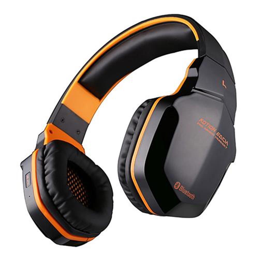 on-ear-over-ear-headphones KOTION EACH B3505 NFC Wireless Bluetooth 4.1 Stereo Gaming Headphone Headset With MIC - Black+Orange KOTION EACH B3505 NFC Wireless Bluetooth 4 1 Stereo Gaming Headphone Headset With MIC Black Orange 5