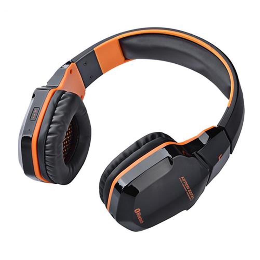on-ear-over-ear-headphones KOTION EACH B3505 NFC Wireless Bluetooth 4.1 Stereo Gaming Headphone Headset With MIC - Black+Orange KOTION EACH B3505 NFC Wireless Bluetooth 4 1 Stereo Gaming Headphone Headset With MIC Black Orange 6