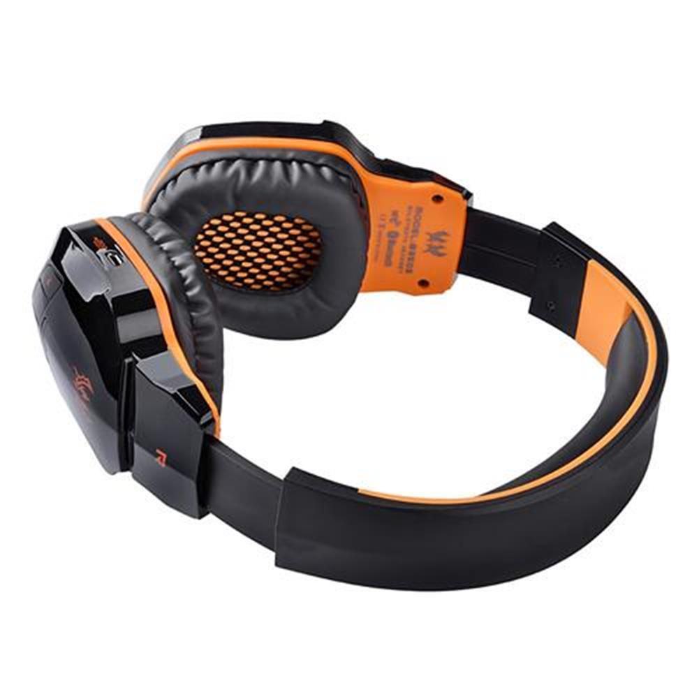 on-ear-over-ear-headphones KOTION EACH B3505 NFC Wireless Bluetooth 4.1 Stereo Gaming Headphone Headset With MIC - Black+Orange KOTION EACH B3505 NFC Wireless Bluetooth 4 1 Stereo Gaming Headphone Headset With MIC Black Orange 7