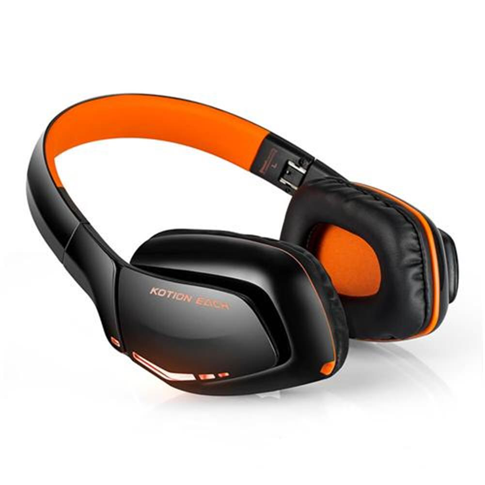 on-ear-over-ear-headphones KOTION EACH B3506 Foldable Bluetooth 4.1 Gaming Headsets with MIC - Black/Orange KOTION EACH B3506 Foldable Bluetooth 4 1 Gaming Headsets with MIC Black Orange 1