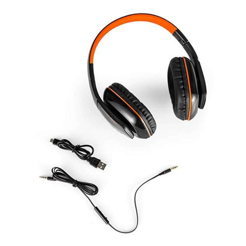 on-ear-over-ear-headphones KOTION EACH B3506 Foldable Bluetooth 4.1 Gaming Headsets with MIC - Black/Orange KOTION EACH B3506 Foldable Bluetooth 4 1 Gaming Headsets with MIC Black Orange 5