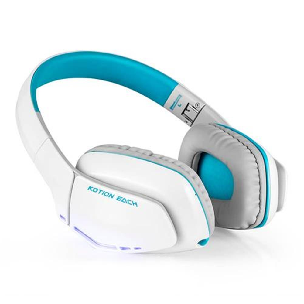 on-ear-over-ear-headphones KOTION EACH B3506 Foldable Bluetooth 4.1 Gaming Headsets with MIC - White/Blue KOTION EACH B3506 Foldable Bluetooth 4 1 Gaming Headsets with MIC White Blue 1