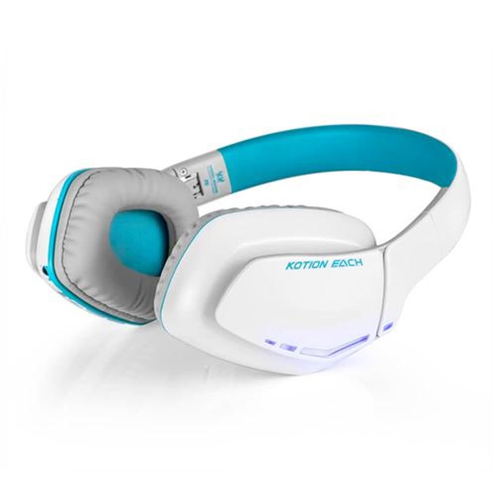 on-ear-over-ear-headphones KOTION EACH B3506 Foldable Bluetooth 4.1 Gaming Headsets with MIC - White/Blue KOTION EACH B3506 Foldable Bluetooth 4 1 Gaming Headsets with MIC White Blue 2