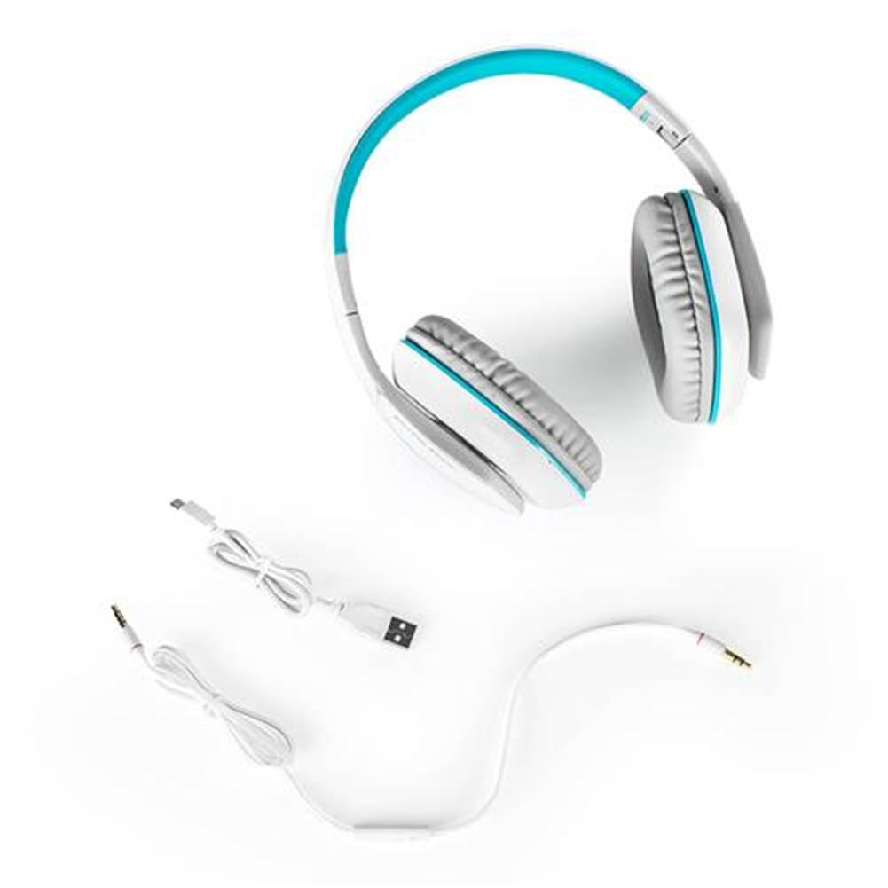 on-ear-over-ear-headphones KOTION EACH B3506 Foldable Bluetooth 4.1 Gaming Headsets with MIC - White/Blue KOTION EACH B3506 Foldable Bluetooth 4 1 Gaming Headsets with MIC White Blue 5