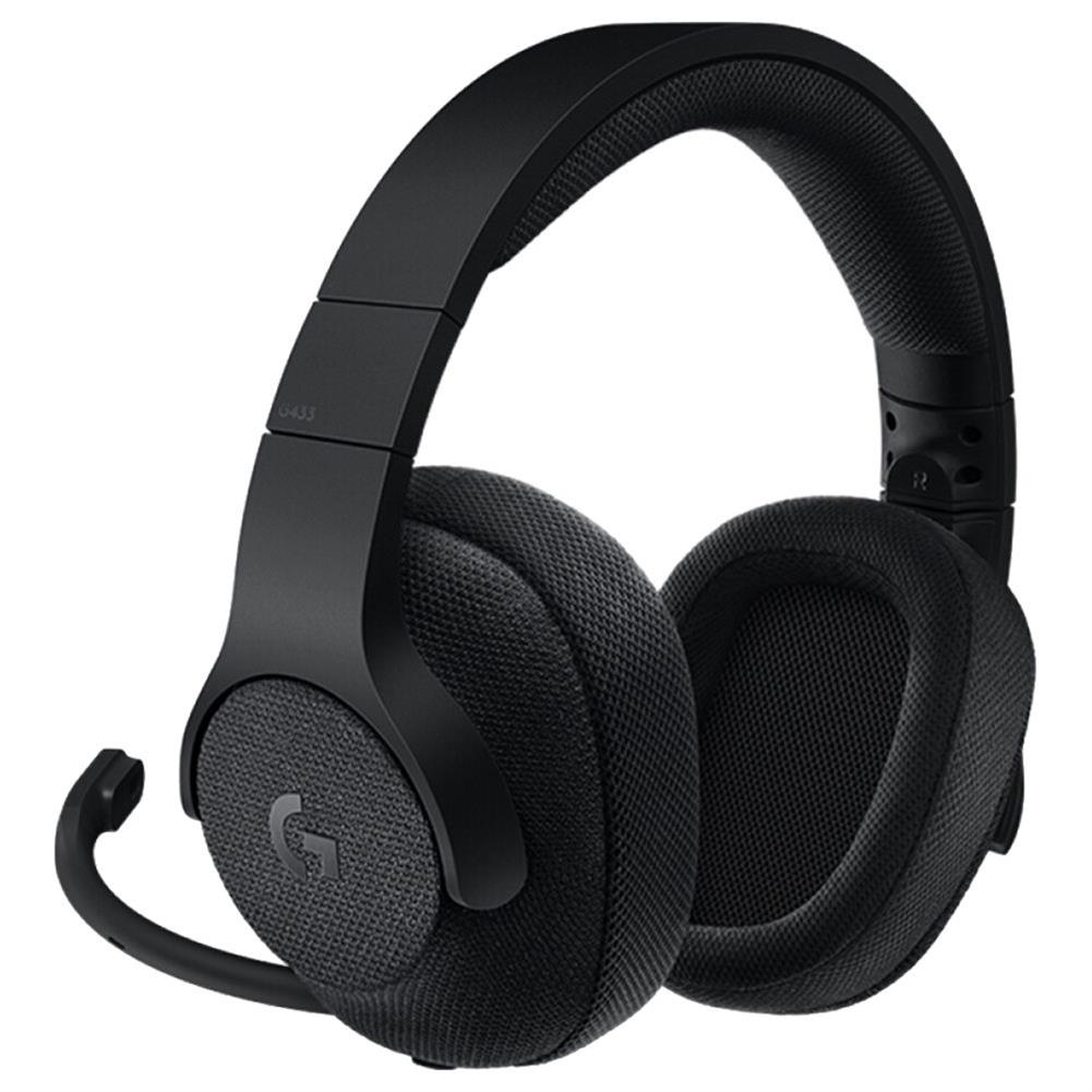 on-ear-over-ear-headphones-Logitech G433 Gaming Headset Wired 7.1 Surround Sound Channel - Black-Logitech G433 Gaming Headset Wired 7 1 Surround Sound Channel Black