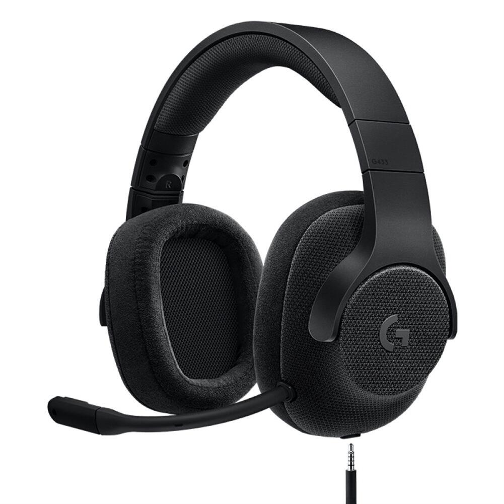 on-ear-over-ear-headphones Logitech G433 Gaming Headset Wired 7.1 Surround Sound Channel - Black Logitech G433 Gaming Headset Wired 7 1 Surround Sound Channel Black 1