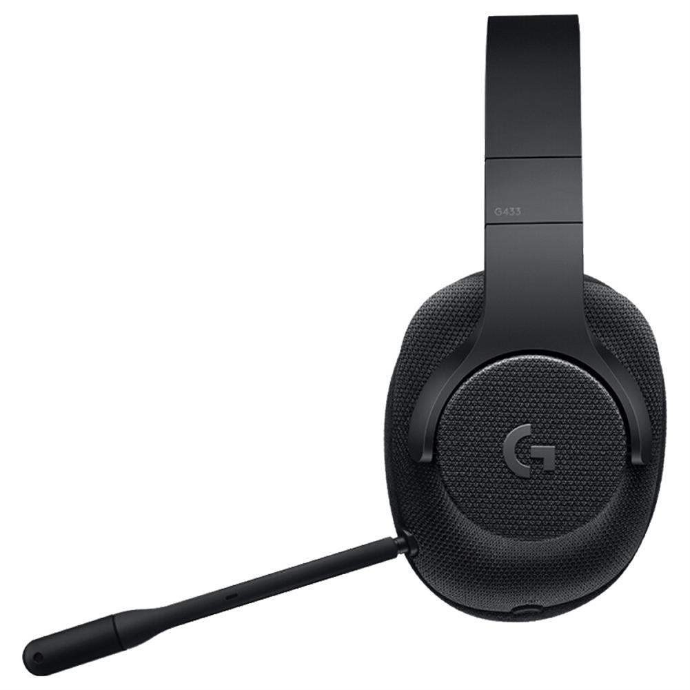 on-ear-over-ear-headphones Logitech G433 Gaming Headset Wired 7.1 Surround Sound Channel - Black Logitech G433 Gaming Headset Wired 7 1 Surround Sound Channel Black 4