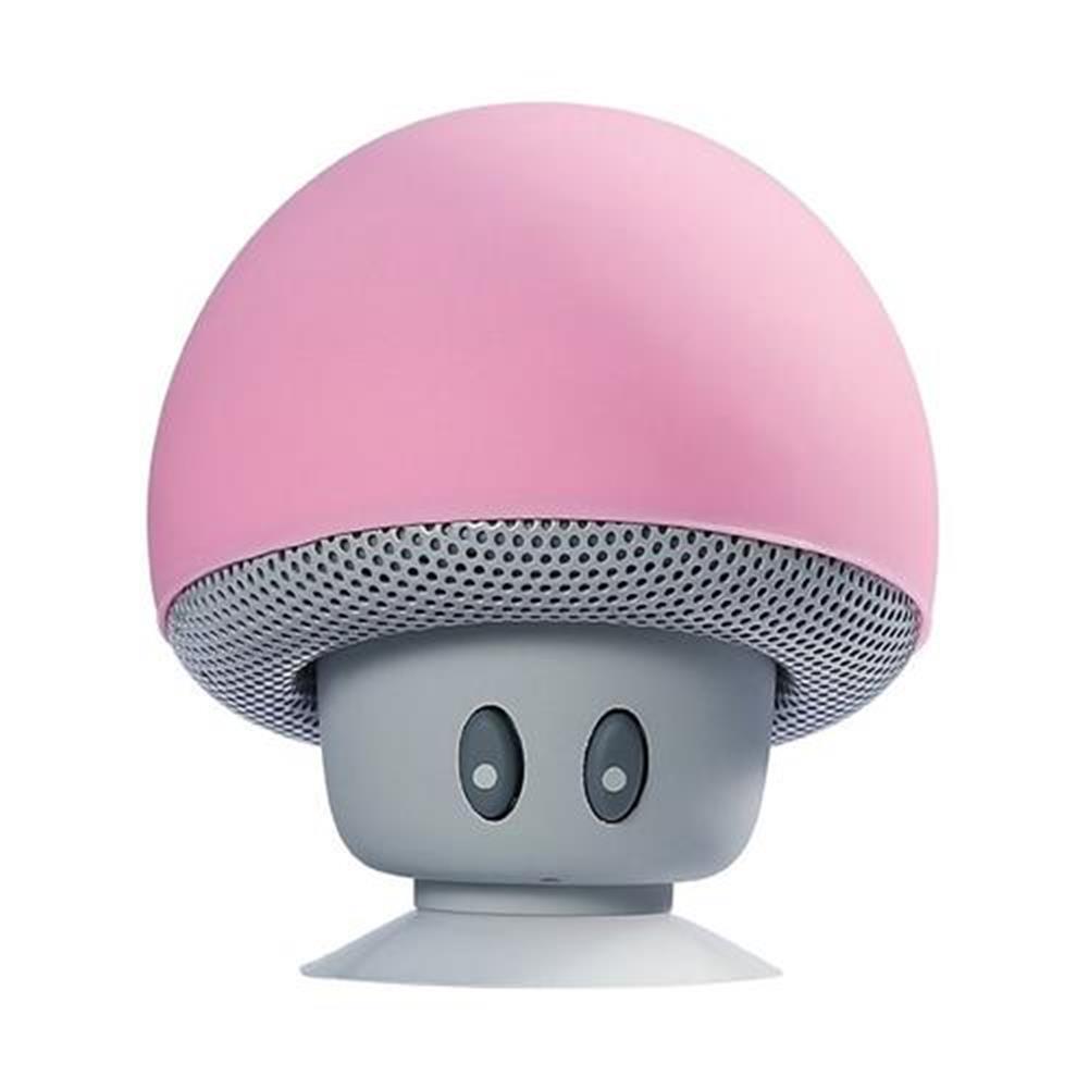 bluetooth-speakers-Mini Wireless Bluetooth Mushroom Speaker with Mic Water-resistant Heavy Bass Stereo Music - Pink-Mini Wireless Bluetooth Mushroom Speaker with Mic Water resistant Heavy Bass Stereo Music Pink