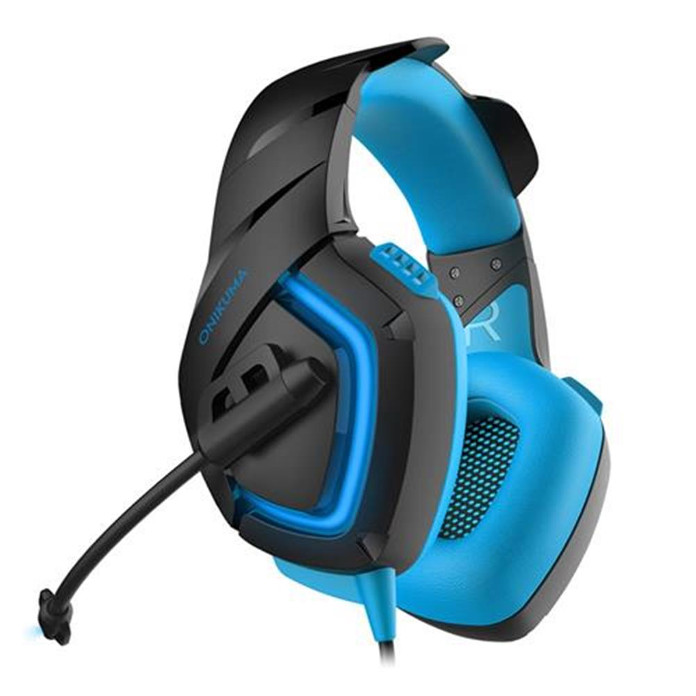 on-ear-over-ear-headphones ONIKUMA K1-B Gaming Headphone with Mic Active Noise-canceling for PS4 XBOX ONE - Blue ONIKUMA K1 B Gaming Headphone with Mic Active Noise canceling for PS4 XBOX ONE Blue