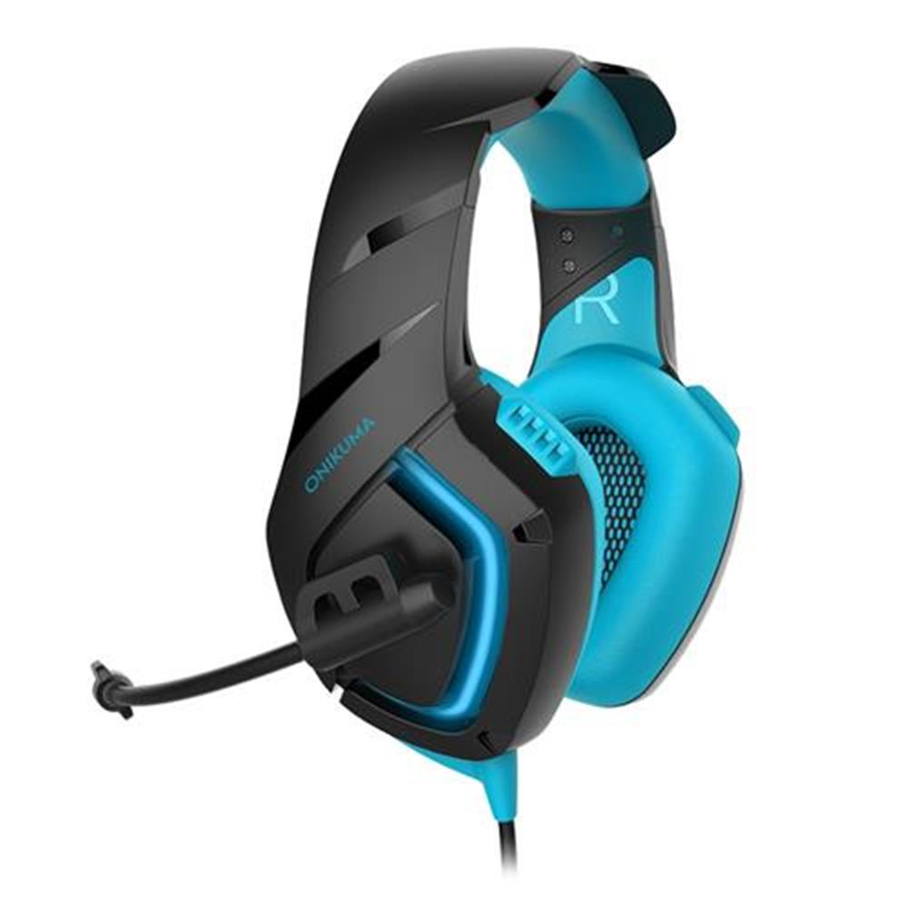 on-ear-over-ear-headphones ONIKUMA K1-B Gaming Headphone with Mic Active Noise-canceling for PS4 XBOX ONE - Blue ONIKUMA K1 B Gaming Headphone with Mic Active Noise canceling for PS4 XBOX ONE Blue 3