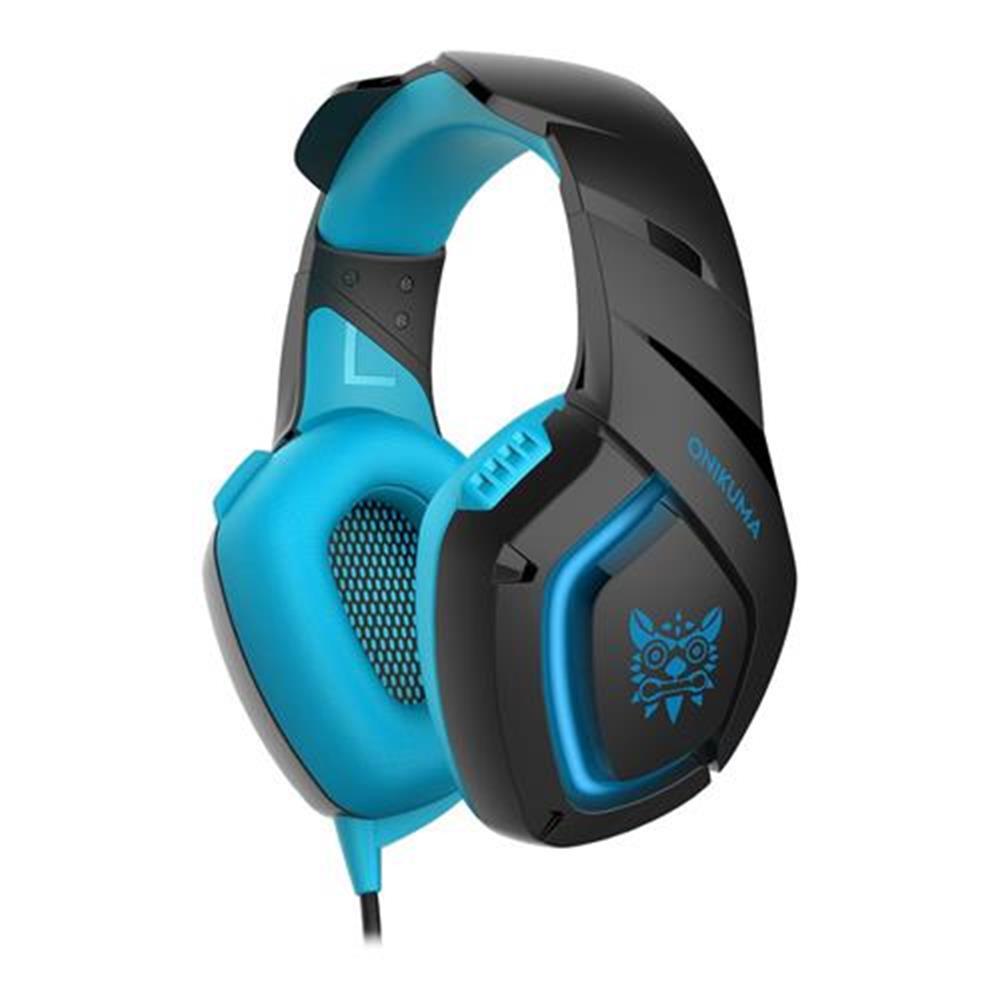 on-ear-over-ear-headphones ONIKUMA K1-B Gaming Headphone with Mic Active Noise-canceling for PS4 XBOX ONE - Blue ONIKUMA K1 B Gaming Headphone with Mic Active Noise canceling for PS4 XBOX ONE Blue 4
