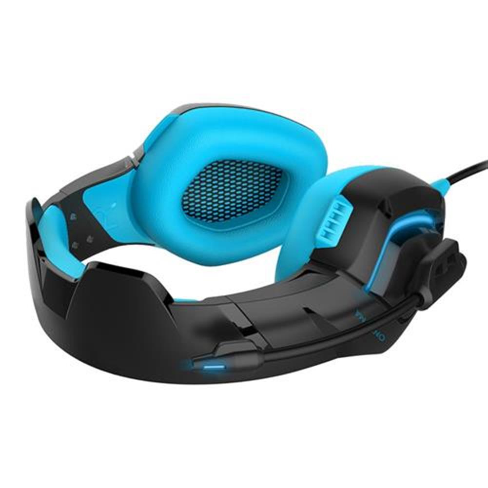 on-ear-over-ear-headphones ONIKUMA K1-B Gaming Headphone with Mic Active Noise-canceling for PS4 XBOX ONE - Blue ONIKUMA K1 B Gaming Headphone with Mic Active Noise canceling for PS4 XBOX ONE Blue 6