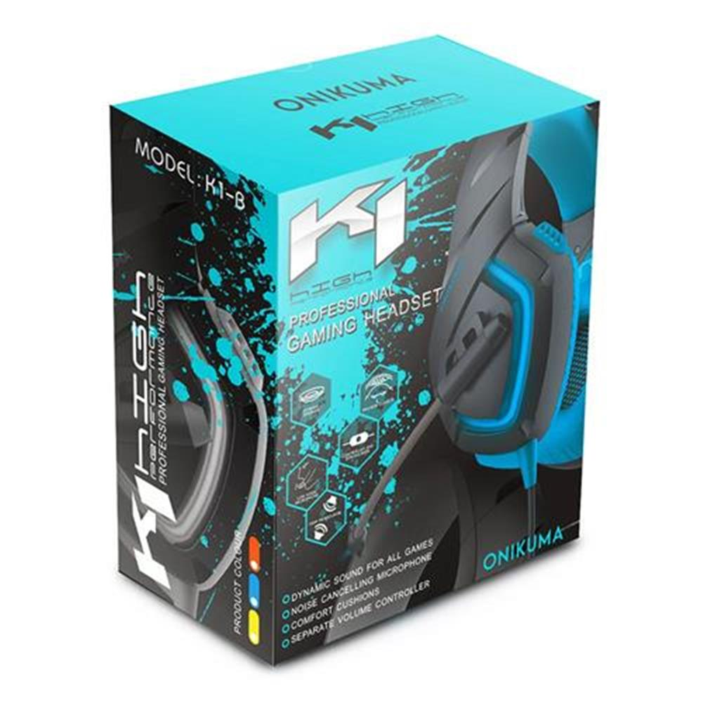on-ear-over-ear-headphones ONIKUMA K1-B Gaming Headphone with Mic Active Noise-canceling for PS4 XBOX ONE - Blue ONIKUMA K1 B Gaming Headphone with Mic Active Noise canceling for PS4 XBOX ONE Blue 7