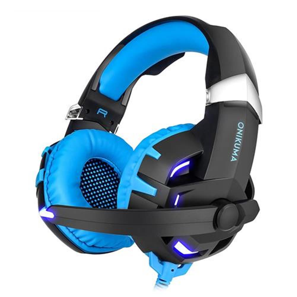 on-ear-over-ear-headphones ONIKUMA K2 Gaming Headphone with Mic 7.1 Sound Track Active Noise Canceling - Blue + Black ONIKUMA K2 Gaming Headphone with Mic 7 1 Sound Track Active Noise Canceling Blue Black