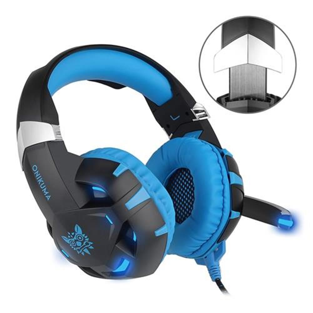 on-ear-over-ear-headphones ONIKUMA K2 Gaming Headphone with Mic 7.1 Sound Track Active Noise Canceling - Blue + Black ONIKUMA K2 Gaming Headphone with Mic 7 1 Sound Track Active Noise Canceling Blue Black 2