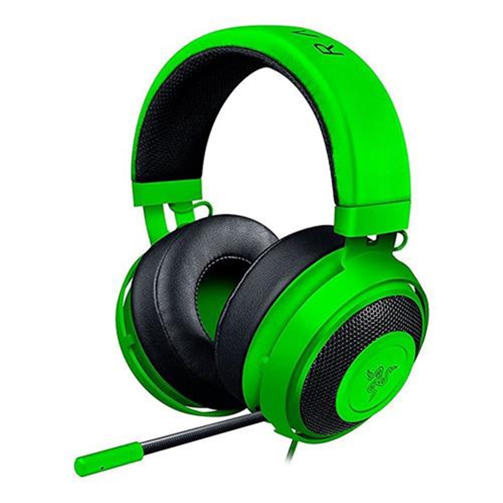 on-ear-over-ear-headphones Razer Kraken Pro V2 Analog Gaming Headset with Retractable Mic Oval Ear Cushions - Green Razer Kraken Pro V2 Analog Gaming Headset with Retractable Mic Oval Ear Cushions Green