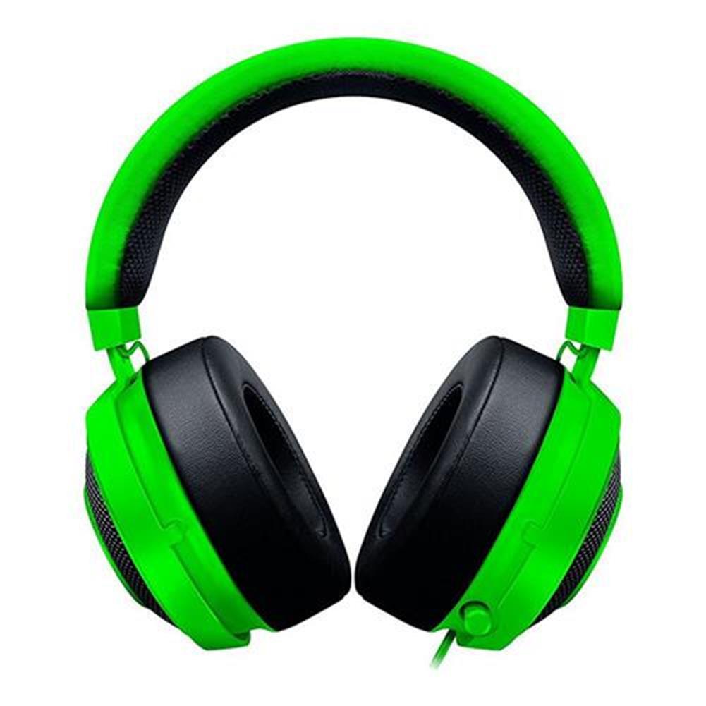 on-ear-over-ear-headphones Razer Kraken Pro V2 Analog Gaming Headset with Retractable Mic Oval Ear Cushions - Green Razer Kraken Pro V2 Analog Gaming Headset with Retractable Mic Oval Ear Cushions Green 1