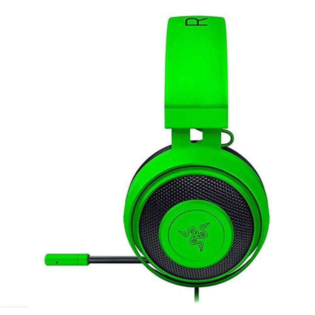 on-ear-over-ear-headphones Razer Kraken Pro V2 Analog Gaming Headset with Retractable Mic Oval Ear Cushions - Green Razer Kraken Pro V2 Analog Gaming Headset with Retractable Mic Oval Ear Cushions Green 2
