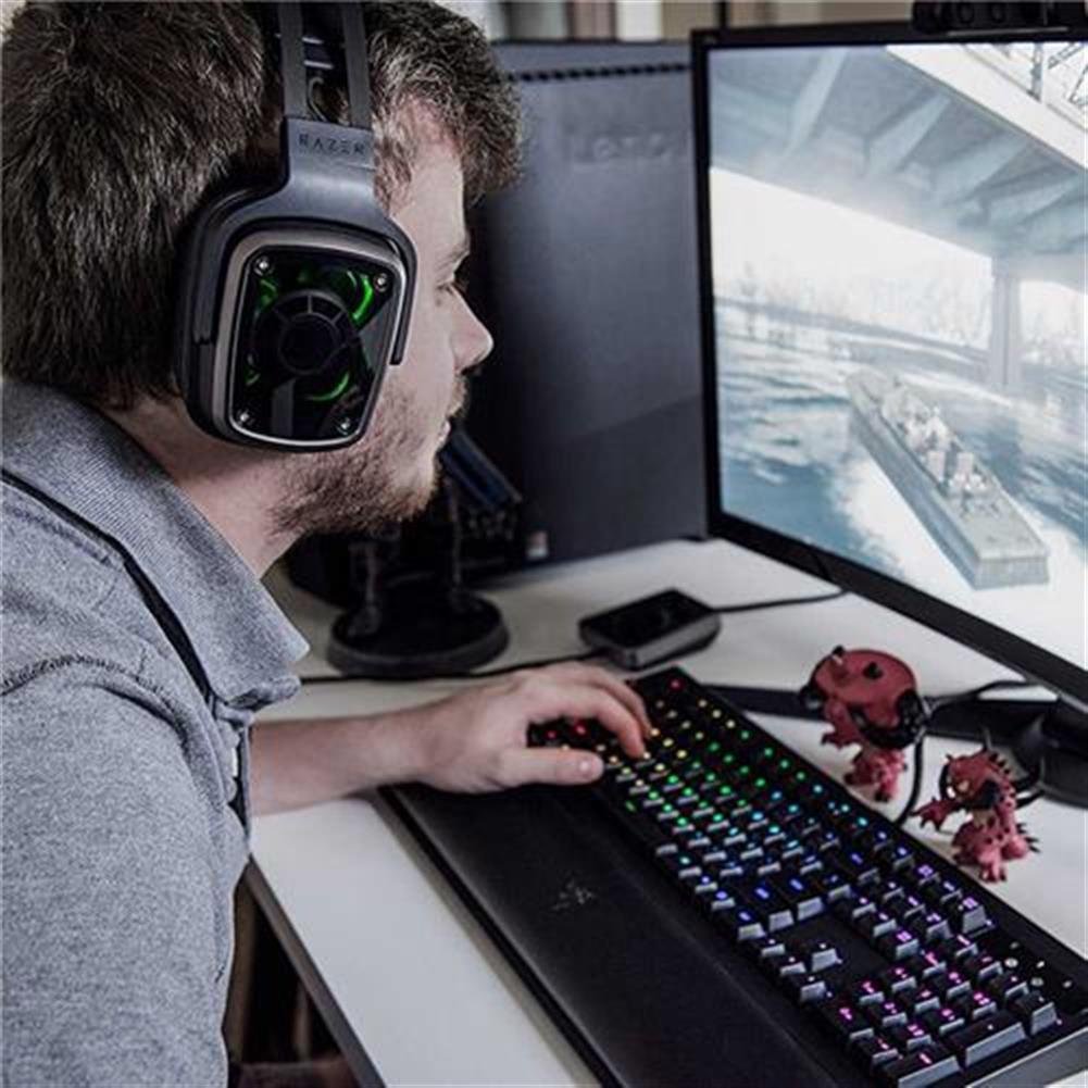 on-ear-over-ear-headphones Razer Tiamat 7.1 V2 Analog Digital Surround Sound Gaming Headset - Black Razer Tiamat 7 1 V2 Analog Digital Surround Sound Gaming Headset Black 8