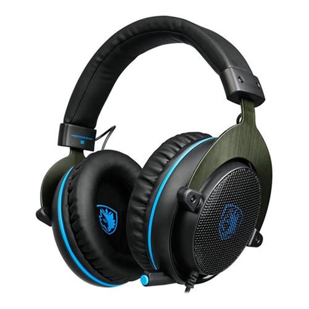 on-ear-over-ear-headphones SADES R3 Gaming Headset with Mic Stereo Bass Volume Control for Xbox One PS4 PC PC Laptop - Black + Blue SADES R3 Gaming Headset with Mic Stereo Bass Volume Control for Xbox One PS4 PC PC Laptop Black Blue 1