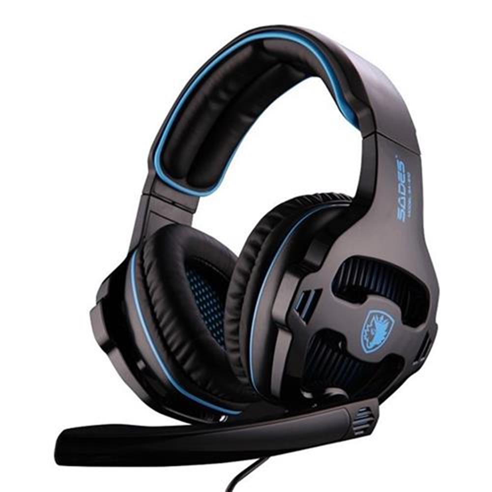 on-ear-over-ear-headphones SADES SA-810 Gaming Headphones with Mic Stereo Bass Noise Canceling - Black + Blue SADES SA 810 Gaming Headphones with Mic Stereo Bass Noise Canceling Black Blue