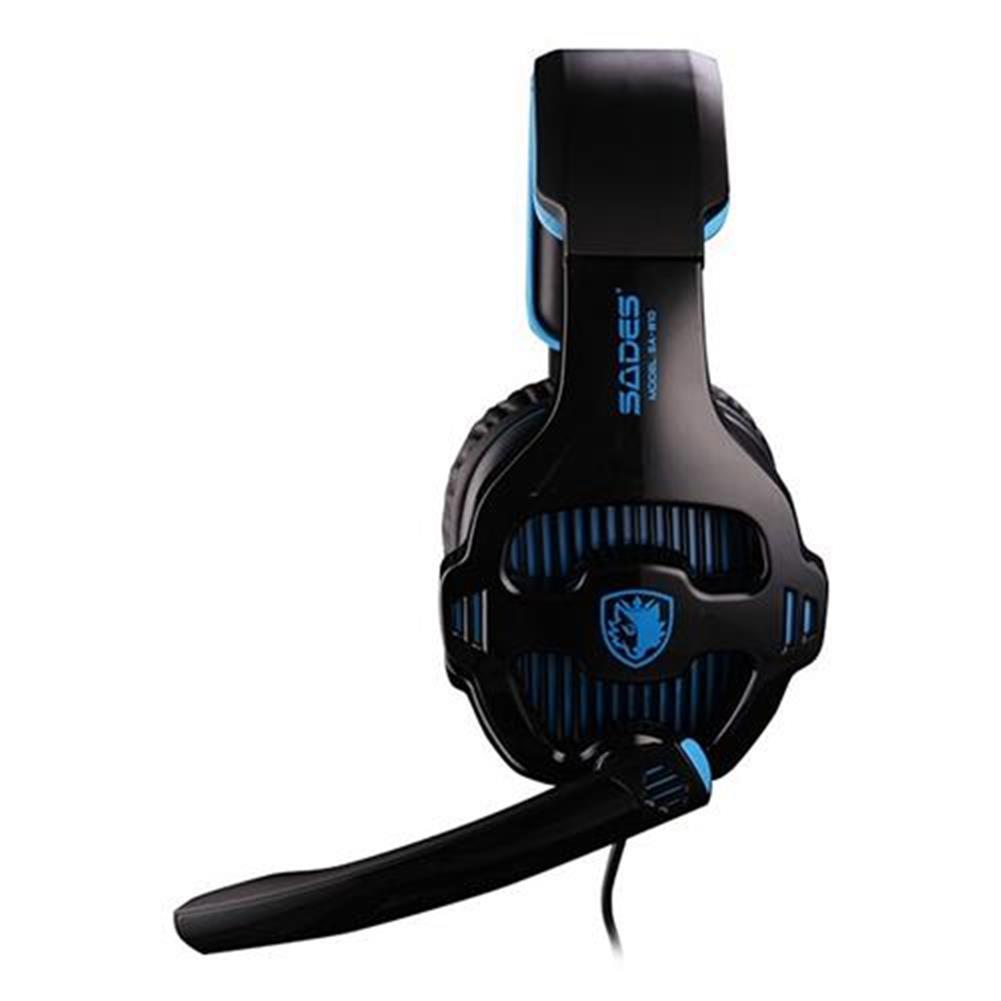 on-ear-over-ear-headphones SADES SA-810 Gaming Headphones with Mic Stereo Bass Noise Canceling - Black + Blue SADES SA 810 Gaming Headphones with Mic Stereo Bass Noise Canceling Black Blue 2
