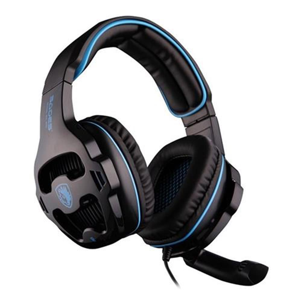 on-ear-over-ear-headphones SADES SA-810 Gaming Headphones with Mic Stereo Bass Noise Canceling - Black + Blue SADES SA 810 Gaming Headphones with Mic Stereo Bass Noise Canceling Black Blue 3