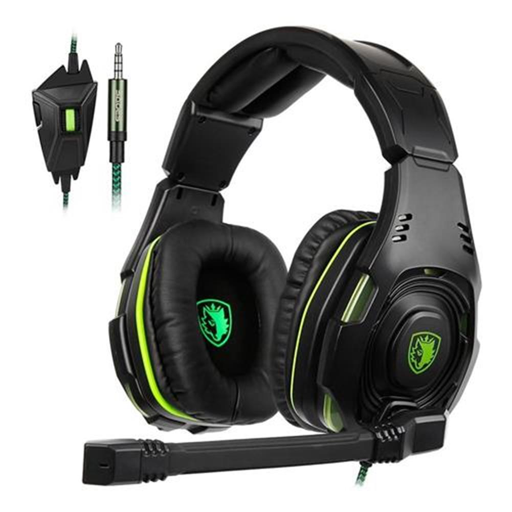 on-ear-over-ear-headphones SADES SA-938 Gaming Headset with Mic Volume Control Noise Canceling - Black + Green SADES SA 938 Gaming Headset with Mic Volume Control Noise Canceling Black Green