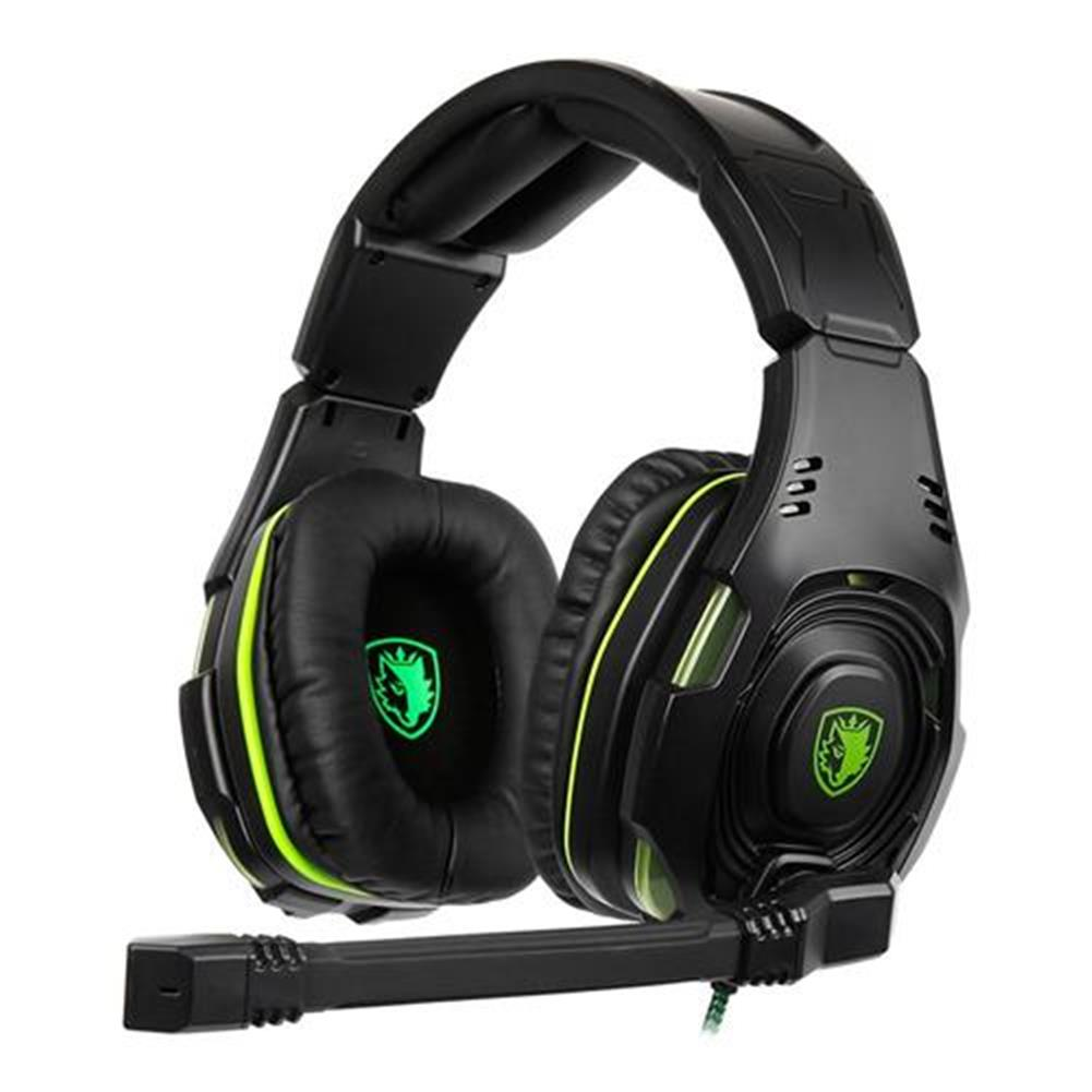 on-ear-over-ear-headphones SADES SA-938 Gaming Headset with Mic Volume Control Noise Canceling - Black + Green SADES SA 938 Gaming Headset with Mic Volume Control Noise Canceling Black Green 1