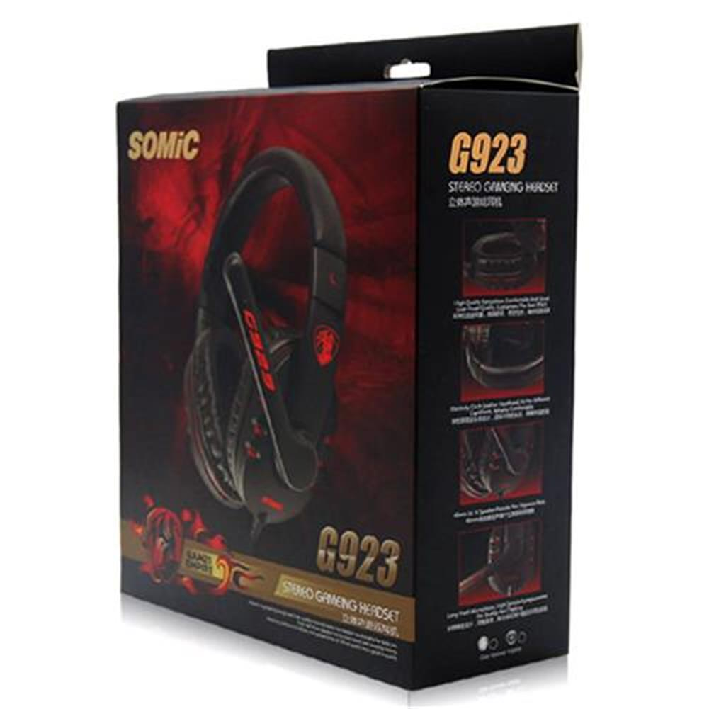 on-ear-over-ear-headphones SOMIC G923 Stereo Gaming Headsets with Mic for Game Player - Black SOMIC G923 Stereo Gaming Headsets with Mic for Game Player Black 8