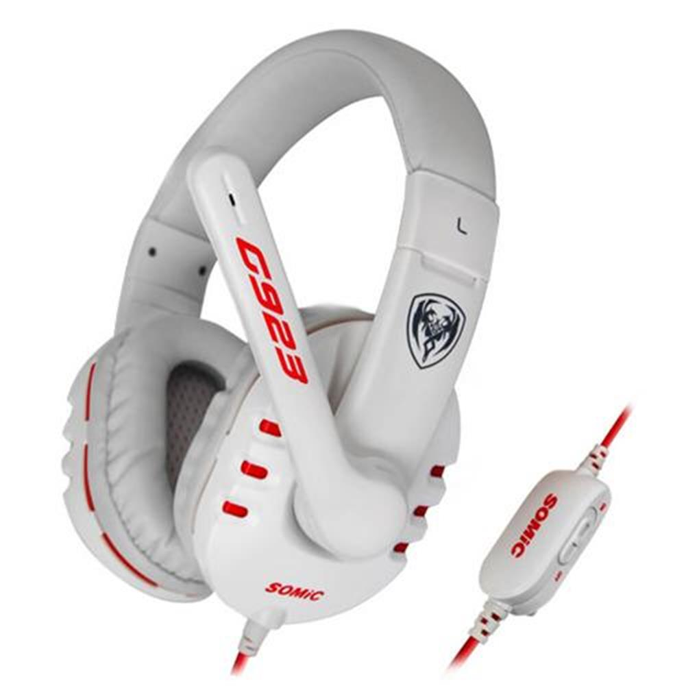 on-ear-over-ear-headphones SOMIC G923 Stereo Gaming Headsets with Mic for Game Player - White SOMIC G923 Stereo Gaming Headsets with Mic for Game Player White