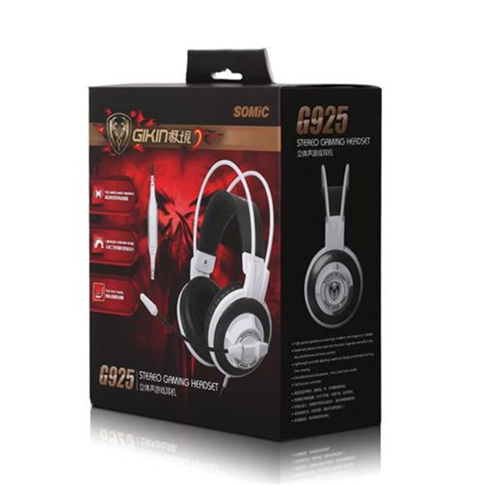 on-ear-over-ear-headphones SOMIC G925 Stereo Gaming Headsets with Mic Sound localization for Game Player - White SOMIC G925 Stereo Gaming Headsets with Mic Sound localization for Game Player White 4