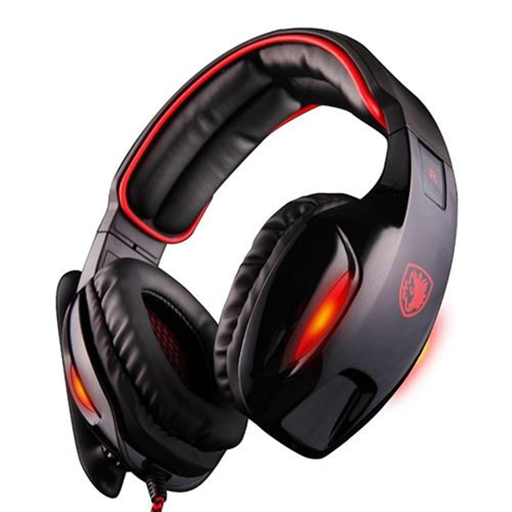 on-ear-over-ear-headphones Sades SA-902 USB Gaming Headset with Mic 7.1 Surround Sound Volume Control for PC Laptop - Black Sades SA 902 USB Gaming Headset with Mic 7 1 Surround Sound Volume Control for PC Laptop Black 1