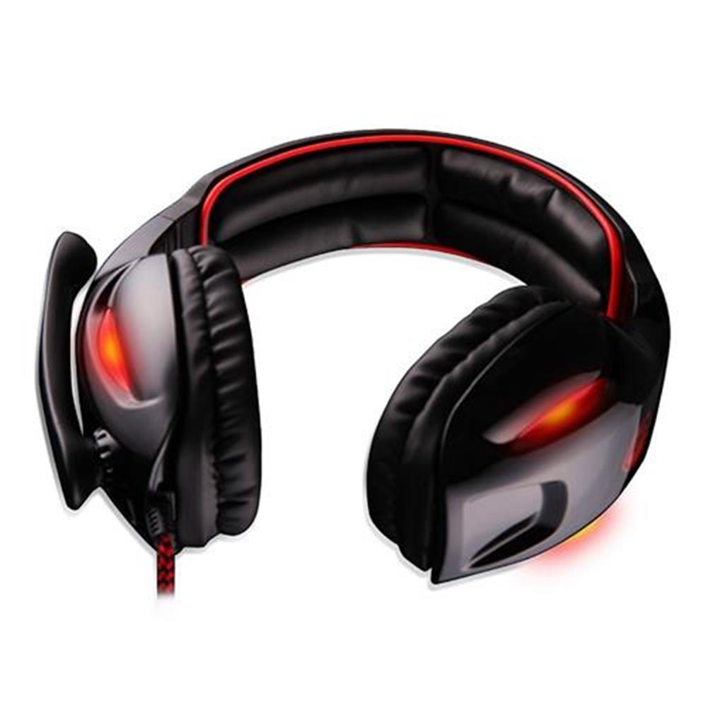 on-ear-over-ear-headphones Sades SA-902 USB Gaming Headset with Mic 7.1 Surround Sound Volume Control for PC Laptop - Black Sades SA 902 USB Gaming Headset with Mic 7 1 Surround Sound Volume Control for PC Laptop Black 2