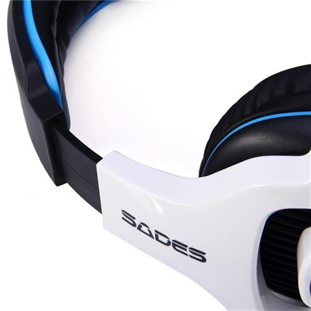 on-ear-over-ear-headphones Sades SA-903 USB Gaming Headset with Mic Stereo 7.1 Surround LED Light - White + Black Sades SA 903 USB Gaming Headset with Mic Stereo 7 1 Surround LED Light White Black 5