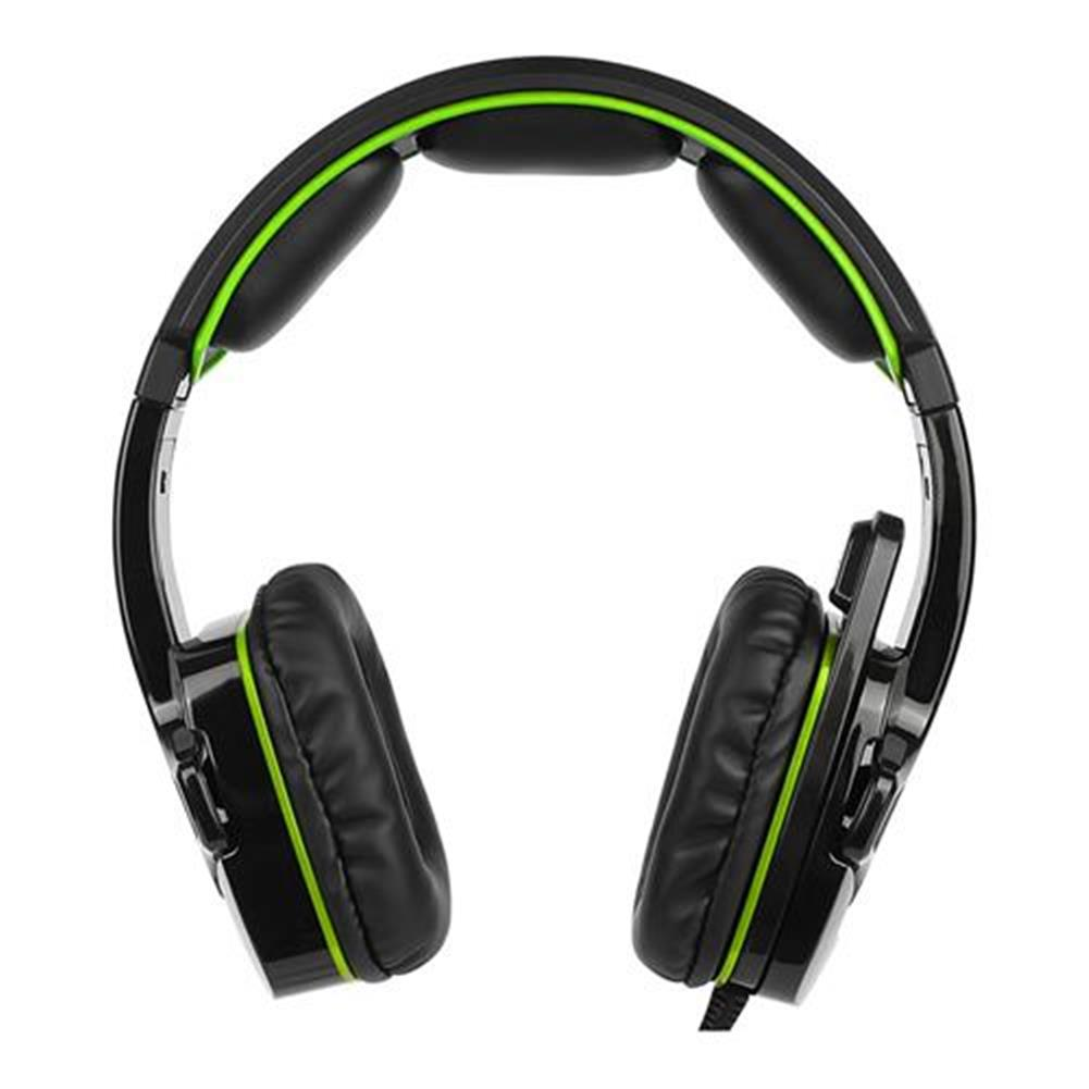 on-ear-over-ear-headphones Sades SA-930 Gaming Headphones with Mic Noise Cancelling Volume Control - Black + Green Sades SA 930 Gaming Headphones with Mic Noise Cancelling Volume Control Black Green 2