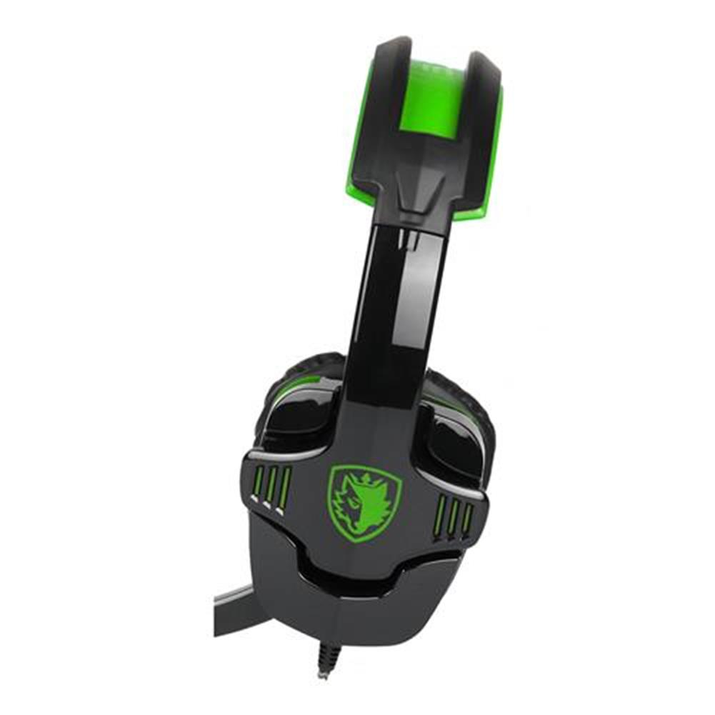 on-ear-over-ear-headphones Sades SA-930 Gaming Headphones with Mic Noise Cancelling Volume Control - Black + Green Sades SA 930 Gaming Headphones with Mic Noise Cancelling Volume Control Black Green 3