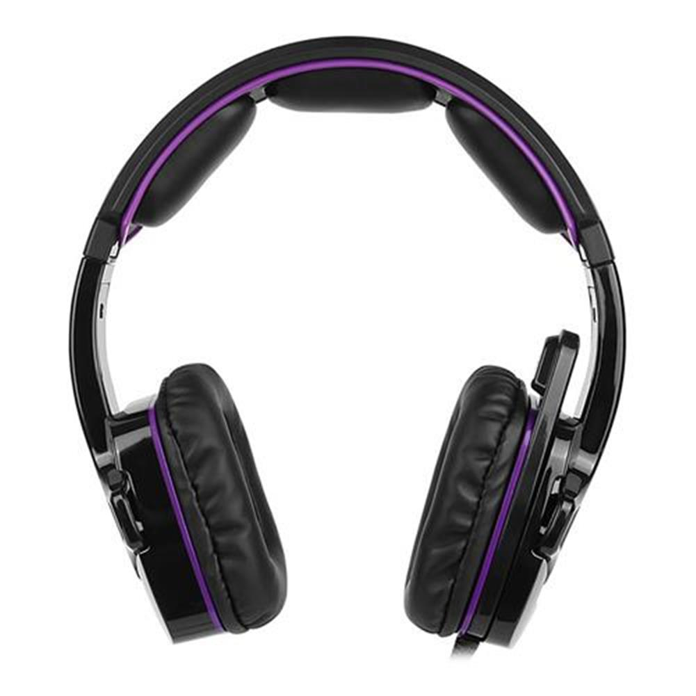 on-ear-over-ear-headphones Sades SA-930 Gaming Headphones with Mic Noise Cancelling Volume Control - Black + Purple Sades SA 930 Gaming Headphones with Mic Noise Cancelling Volume Control Black Purple 2