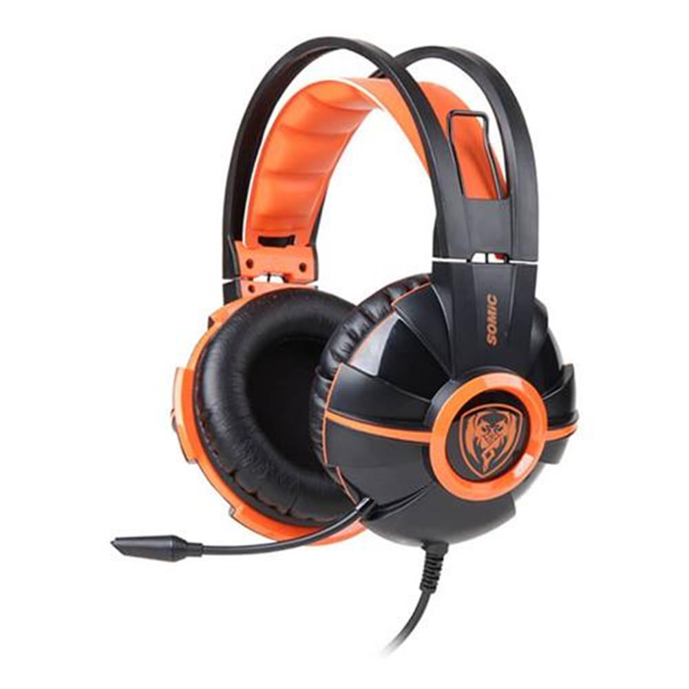 on-ear-over-ear-headphones Somic G905 Over-ear Stereo Gaming Headsets with Mic Suspension Headband Volume Control - Orange Somic G905 Over ear Stereo Gaming Headsets with Mic Suspension Headband Volume Control Orange
