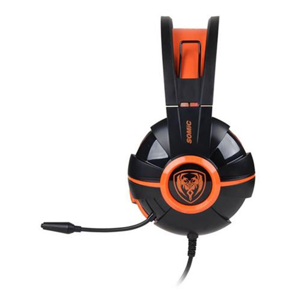 on-ear-over-ear-headphones Somic G905 Over-ear Stereo Gaming Headsets with Mic Suspension Headband Volume Control - Orange Somic G905 Over ear Stereo Gaming Headsets with Mic Suspension Headband Volume Control Orange 2