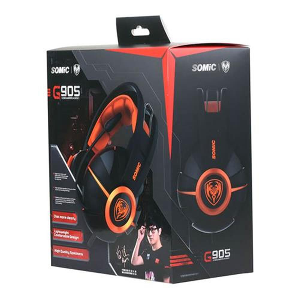 on-ear-over-ear-headphones Somic G905 Over-ear Stereo Gaming Headsets with Mic Suspension Headband Volume Control - Orange Somic G905 Over ear Stereo Gaming Headsets with Mic Suspension Headband Volume Control Orange 5