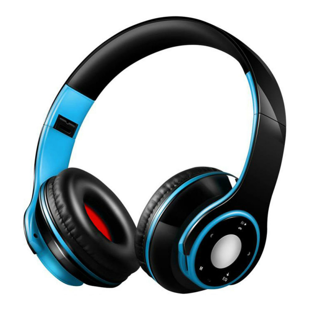 on-ear-over-ear-headphones SG8 Foldable Wireless Bluetooth Headphones Support FM Radio TF Card for Phone Tablet-Blue + Black SG8 Foldable Wireless Bluetooth Headphones Support FM Radio TF Card for Phone Tablet BlueBlack