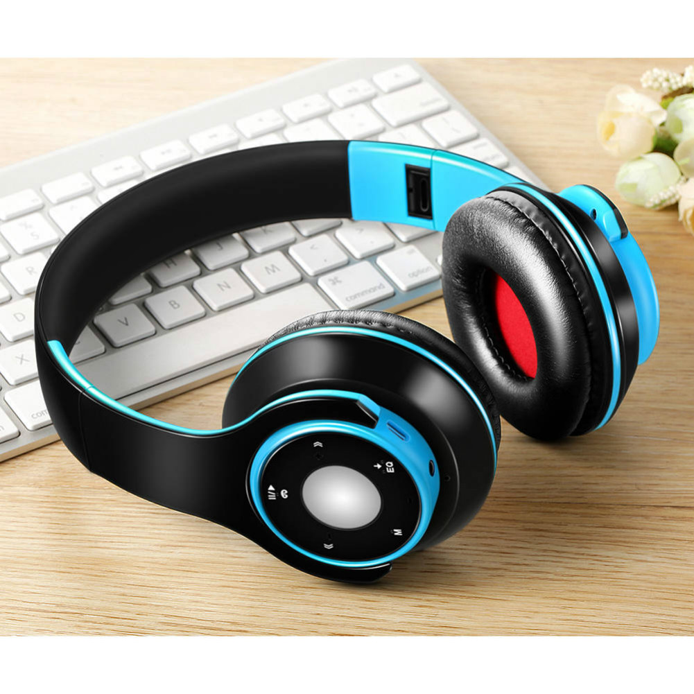 on-ear-over-ear-headphones SG8 Foldable Wireless Bluetooth Headphones Support FM Radio TF Card for Phone Tablet-Blue + Black SG8 Foldable Wireless Bluetooth Headphones Support FM Radio TF Card for Phone Tablet BlueBlack 2