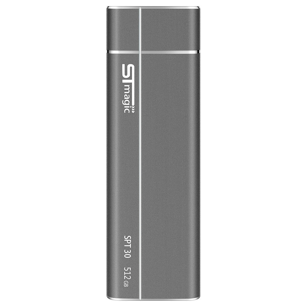 ssd-hdd-enclosures STmagic SPT30 512G Mini Portable M.2 SSD USB3.1 To Type-C Solid State Drive Read Speed 480MB/s-Gray STmagic SPT30 512G Mini Portable M.2 SSD USB3.1 To Type C Solid State Drive Read Speed 480MBs Gray